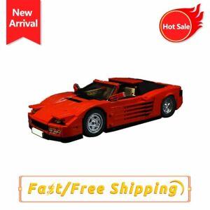 SF Classic Roadster Testarossa Coupe Car Building Blocks Bricks Models Kids Gift
