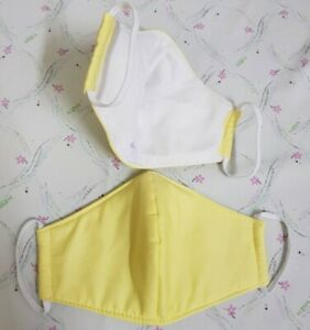 #1Quality handmade face mask cover age Approx 8-14 washable and reusable. Yellow