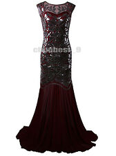 Gatsby 1920s Flapper Party Prom Gown Dresses 30s Wedding Bridesmaid Womens Dress