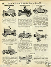 1931 PAPER AD Toy Pedal Car Cars Silver Line Airplane Monoplane Dodge Packard ++