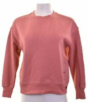 CALVIN KLEIN Womens Sweatshirt Jumper Size 10 Small Pink Cotton  IC32