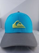 QuickSilver Men's New Era 39 Thirty Fitted Hat Size Med-Large Turquoise/Gray