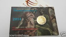 Coin card 2 euro 2014 GRECIA Grece Griechenland Greece El Greco Theotokopoulos