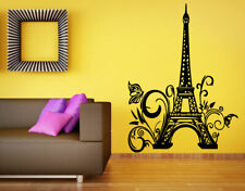 Wall Vinyl Sticker Room Decals Mural Design Paris France Eiffel Tower bo1179