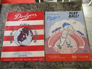 Original 1964 & 1965 LOS ANGELES DODGERS Program SCORECARDs