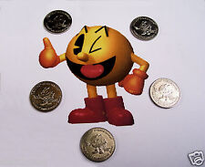 PACMAN 5 Nickel Silver Retro  Pac Man Pinball Arcade Machine vending tokens 90`s
