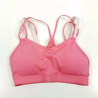 Calia Carrie Underwood Inner Power Sports Bra Size XS Pink Strappy Tri Strap