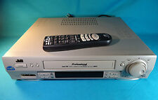 JVC SR-TS1U S-VHS Super VHS VCR - w/ Non-Original Remote No Battery Cover - Used