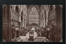 L@@K  Choir Ripon Cathedral 1900's ? Postcard Yorkshire