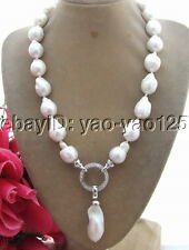 R062404 18MM Bead-Nucleated Pearl Necklace-25mm pendant