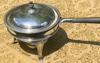 Old Vintage Antique Ornate Nouveau Silver Plate Server Elevated Chafing Dish