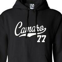 Camaro 77 Script & Tail HOODIE - Hooded 1977 Muscle Car Sweatshirt All Colors