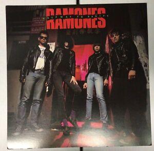 Ramones Halfway to Sanity RARE original promo 12 x 12 poster flat 1987