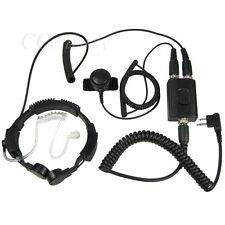 FBI Heavy Duty Military Throat Mic Headset For Motorola CP200 CP250 CP300 EP450