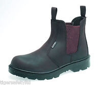 Capps LH408 S1 Brown Mens Safety Composite Toe Cap Dealer Boots Work Boots PPE