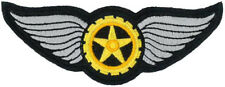 "WINGED COG EMBROIDERED PATCH 10CM X 3.5CM (4"" X 1-1/2"")"