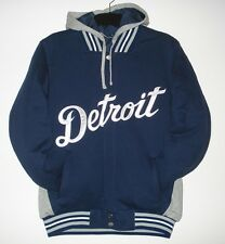 SIZE L MLB DETROIT TIGERS REVERSIBLE FLEECE JACKET WITH REMOVABLE HOODIE LG