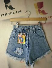 Crystal Damen Jeans Shorts LONA bluestone TRUE VINTAGE bluehot hot pants NOS 80s