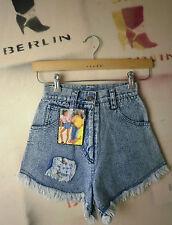 Crystal Damen Jeans Shorts LONA bluestone TRUE VINTAGE bluehot hot pants NOS 80s