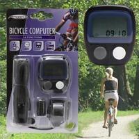 LCD Digital Waterproof 14 Function Bicycle Computer Wired Odometer Speedometer