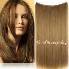 Halo Invisible Wire Flip Hair In No Clip Remy Human Hair Extensions Golden Brown