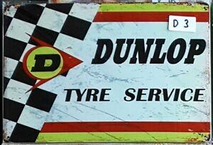 DUNLOP Retro Vintage Tin Sign Bar Shed & Man Cave Signs AU Seller