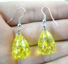 Precious Modernist amber Handmade Gemstone Jewellery earrings