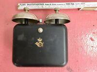 Historische alte  Telefonklingel für  Kurbeltelefone?   ungeprüft Dänemark?