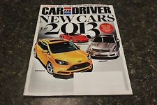 CAR AND DRIVER NEW CARS FOR 2013 SEPTEMBER 2012 VOL.58 #3 9248-1 [BOX H] #1149