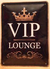 VIP LOUNGE Black / Embossed Steel Sign wall decor (15x20cm)