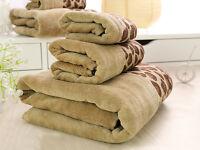 HAND, BATH TOWELS LEOPARD LUXURY TOWEL SET 100% PURE EGYPTIAN COTTON FACE