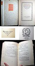 1922 CURWEN PRESS FIRST EDITION CLUB LONDON  LTD. ED.  EXHIBITION CATALOG