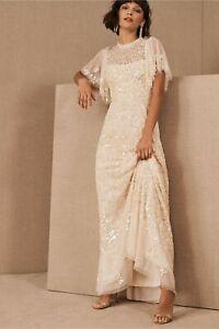 BHLDN Needle & Thread Honesty Flower Gown US Size 10 Blush NWT $619