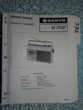Sanyo M-Z52F service manual original repair book stereo boombox radio tape deck