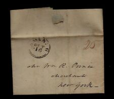 1818 Savannah, GA stampless letter & Prices Current, Cotton, Whale Oil & More !