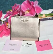 🌸 NWT Kate Spade Spencer Small Bifold Wallet Leather Rose Gold New $98