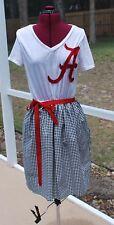 Alabama Crimson Tide Bama Girl Dress Upcycled T-Shirts S Houndstooth