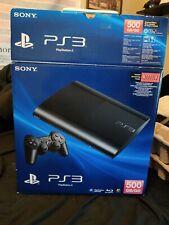 Sony Playstation 3 Super Slim 500Gb Black Console *Box Only*