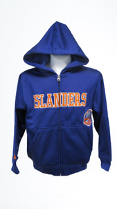 New New York Islanders Youth Size S Small Blue Long Sleeve Zip Up Jacket