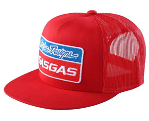 2021 TROY LEE DESIGNS RED TLD X GAS GAS SNAPBACK TEAM LOGO TRUCKER HAT OS