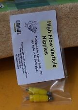 Nipple drinker Hi Flow Verticle(2 items per Pkt) chickens, poultry, ducks