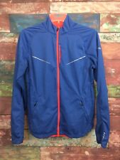 Saucony Women's Marine Blue/Orange Running Nomad FlexShell Jacket Size S *