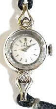 Omega Vintage Ladies 14k Gold Diamond Watch,Sapphire lens!