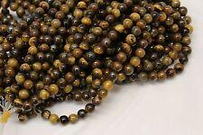 "8mm Tiger's Eye Round Beads 15"" Strand S1"