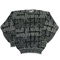 Vintage Cosby Style Retro 80's 90's Sweater Nordic Jumper Abstract Medium (R14)