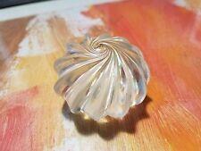 Levi Levay Studio GLASS PAPERWEIGHT - Swirled Clear Iridescent