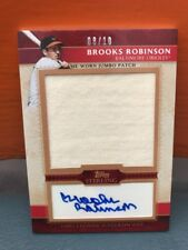 2010 Topps Sterling Auto Patch Brooks Robinson #'d 10