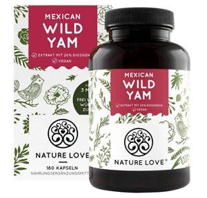NATURE LOVE® Wild Yam Kapseln - Premium: Original Mexican Wild Yamswurzel - Hoch