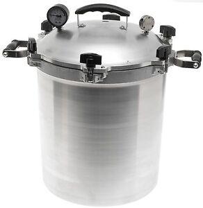 All American 930 30 Qt Heavy Cast Aluminum Pressure Cooker  Canner  NEW
