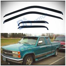 4pcs Sun/Rain Guard Vent Shade Window Visor Fit 88-00 Chevy/GMC C/K Extended Cab
